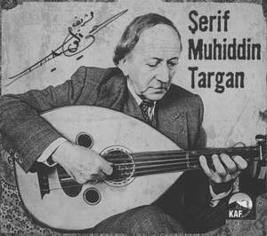 "Serif Muhiddin Haydar playing his Ali Ajmi Oud. The fretboard extends over the soundboard. A small ornamentation marks the junction with the body, without creating any discontinuity in the playing surface. The Oud player is therefore able to play in very high positions and obtain a clean sound (Cover of CD ""Şerif Muhiddin Targa"" - Kaf Muzik - August 2001 - 8697408900159)"